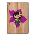 Aloha Honeys Hawaiian Hula Girl Faux Wood iPad Mini Case