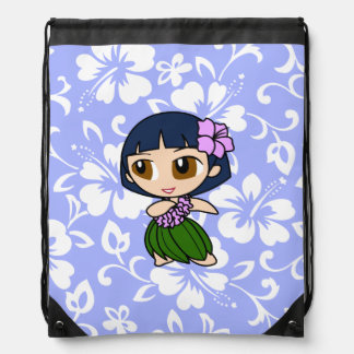 Aloha Honeys Hawaiian Hula Girl Hibiscus Backpack
