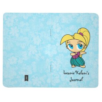 Aloha Honeys Hawaiian Hula Girl Hibiscus Journals