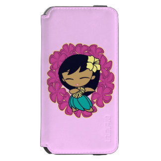 Aloha Honeys Hawaiian Hula Girl Plumeria Lei iPhone 6/6s Wallet Case