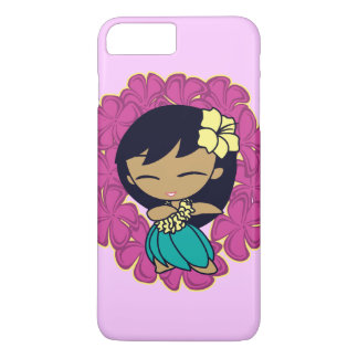 Aloha Honeys Hawaiian Hula Girl Plumeria Lei iPhone 7 Plus Case