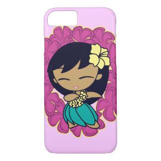 Aloha Honeys Hawaiian Hula Girl Plumeria Lei iPhone 8/7 Case