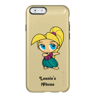 Aloha Honeys Hawaiian Hula Surfer Girl Cartoon Incipio Feather Shine iPhone 6 Case