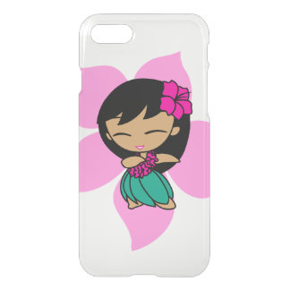 Aloha Honeys Hawaiian Pink Hibiscus Hula Girl iPhone 7 Case
