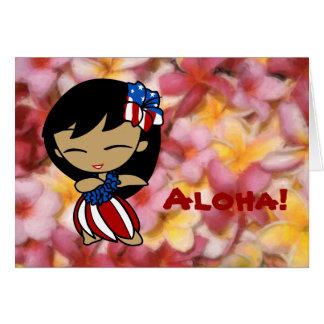 Aloha Honeys Hawaiian Plumeria Patriotic Cards