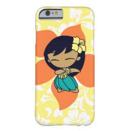 Aloha Honeys Hawaiian Yellow Pareau Hula Girl Barely There iPhone 6 Case