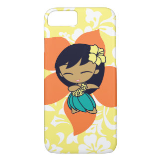 Aloha Honeys Hawaiian Yellow Pareau Hula Girl iPhone 7 Case