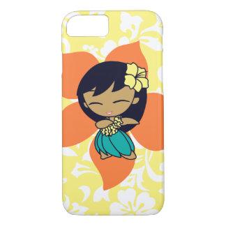 Aloha Honeys Hawaiian Yellow Pareau Hula Girl iPhone 8/7 Case