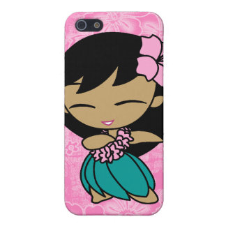 Aloha Honeys Hula Girl Hibiscus iPhone 5 Cases