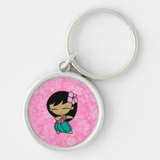Aloha Honeys Hula Girl Hibiscus Keyrings