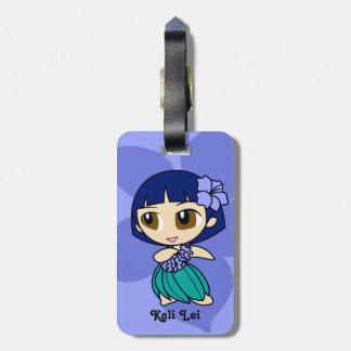 Aloha Honeys Hula Girl Hibiscus Luggage Tags