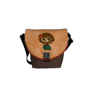 Aloha Honeys Hula Girl Hibiscus Mini Messenger Bag