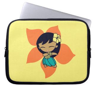 Aloha Honeys Hula Girl Hibiscus Neoprene Computer Sleeve
