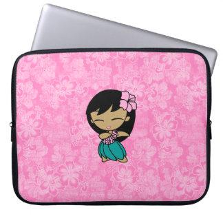 Aloha Honeys Hula Girl Hibiscus Neoprene Laptop Sleeve