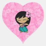 Aloha Honeys Hula Girl Hibiscus Stickers