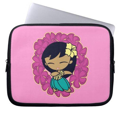 Aloha Honeys Hula Girl Plumeria Neoprene Laptop Sleeve