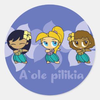 """Aloha Honeys "" hula girls stickers in peri"