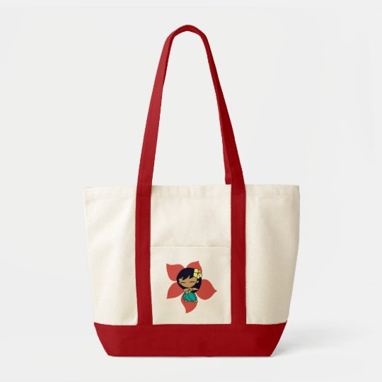 """Aloha Honeys"" Impluse Tote in Red"