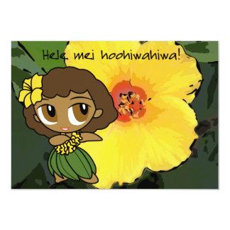 "Aloha Honeys Luau Invite Card 5"" X 7"" Invitation Card"