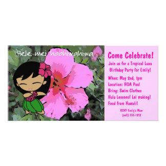 Aloha Honeys Luau Invite Picture Card