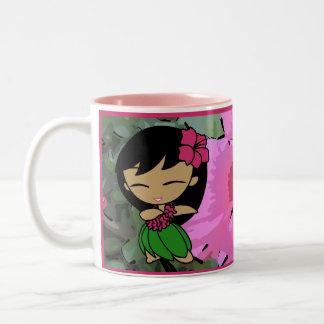 """Aloha Honeys"" Pink Hibiscus Mug"