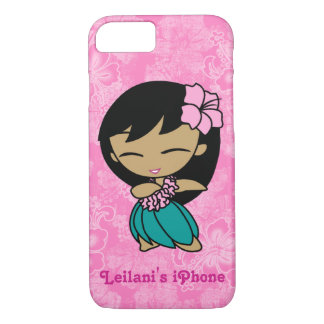 Aloha Honeys Pink Hula Girl Hawaiian Hibiscus iPhone 7 Case