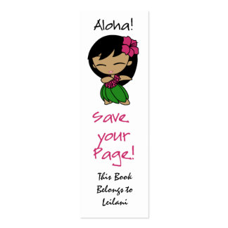 Aloha Honeys Skinny Bookmark Double-Sided Mini Business Cards (Pack Of 20)