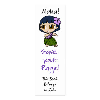 Aloha Honeys Skinny Bookmark Cards Double-Sided Mini Business Cards (Pack Of 20)