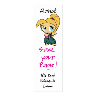 Aloha Honeys Skinny Bookmark Cards Business Card Template