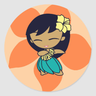 """Aloha Honeys"" Stickers in lt. peach"