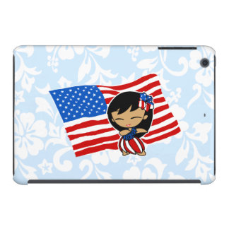 Aloha Honeys USA Flag Hula Girl iPad Mini Case