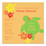 Aloha Honu Baby Shower Invitation - Orange