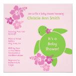 Aloha Honu Baby Shower Invitation - Pink