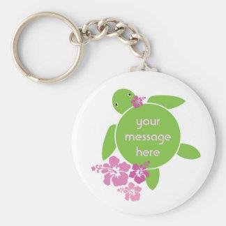 Aloha Honu Custom Message Key Chain