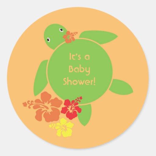 Aloha Honu Sticker - Orange