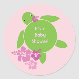 Aloha Honu Sticker - Pink