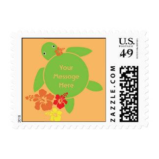 Aloha Honu US Postage Stamp - Orange