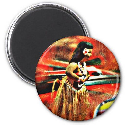Aloha Hula Girl Fridge Magnets