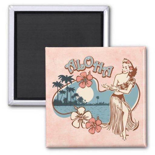 Aloha Hula Girl Magnet