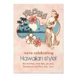 """Aloha Hula Girl Party Invitation 5"""" X 7"""" Invitation Card"""