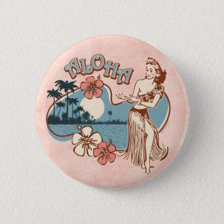 Aloha Hula Girl Pin Button
