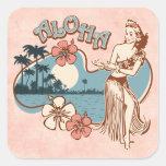Aloha Hula Girl Sticker