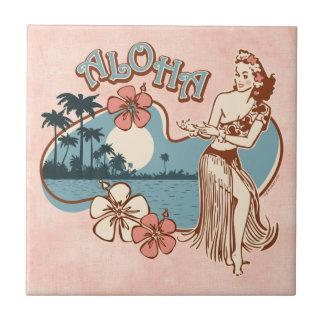 Aloha Hula Girl Tile