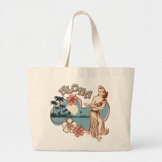 Aloha Hula Girl Tote Bag