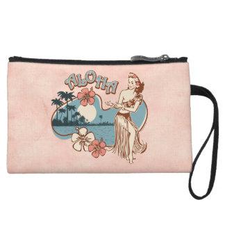 Aloha Hula Girl Wristlet Wallet