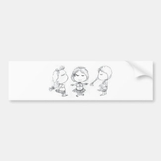 Aloha Hula Girls Bumper Sticker