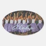 Aloha Hula Oval Sticker