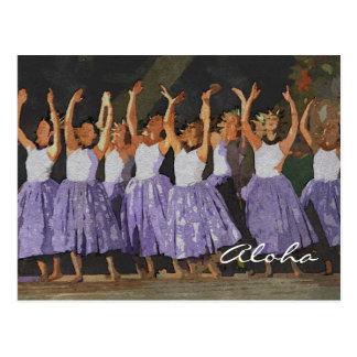 Aloha Hula Postcards