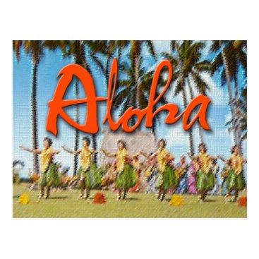 Aloha808 Aloha Hula Postcard