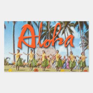 Aloha Hula Rectangle Sticker
